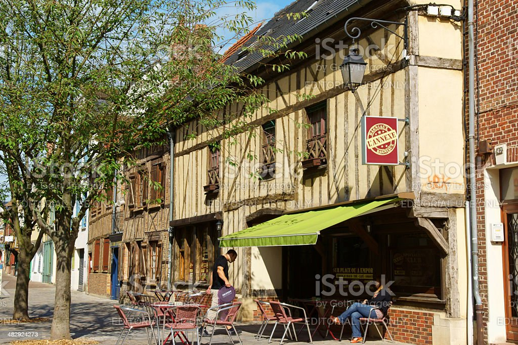 Old downtown Beauvais stock photo