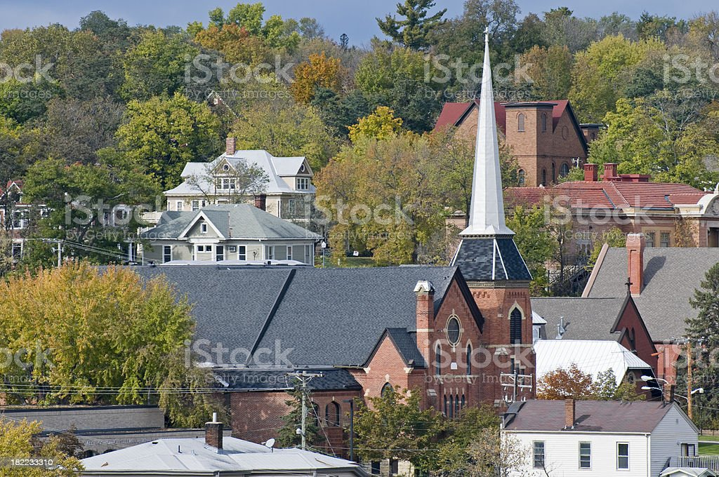 Old downtown of Stillwater MN royalty-free stock photo