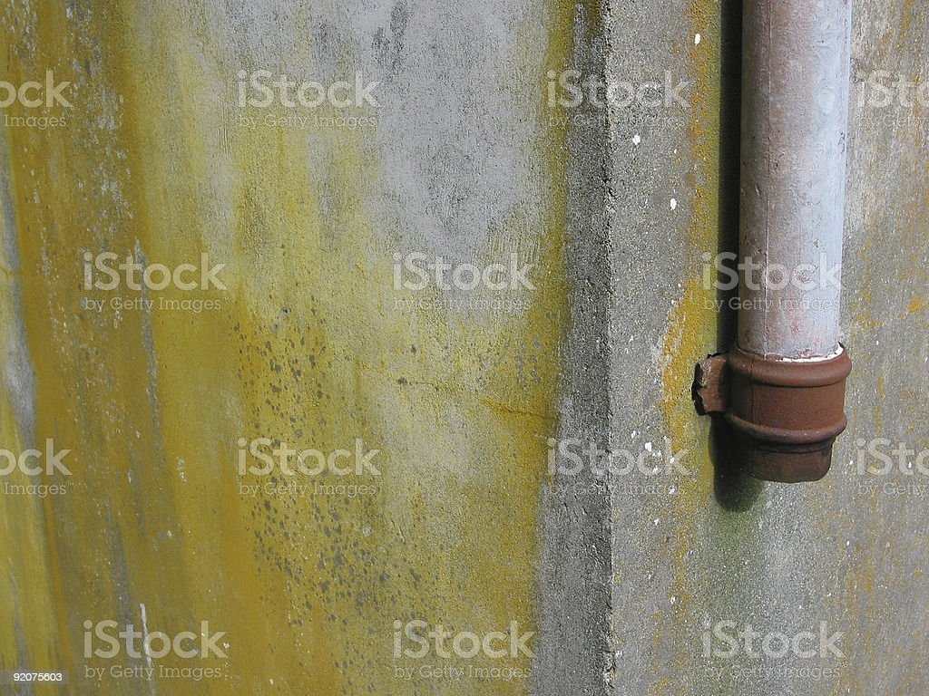 Old Drain Pipe stock photo