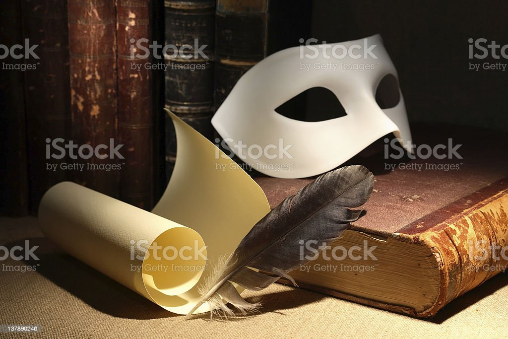 Old dramaturgy concept photo picture stock photo