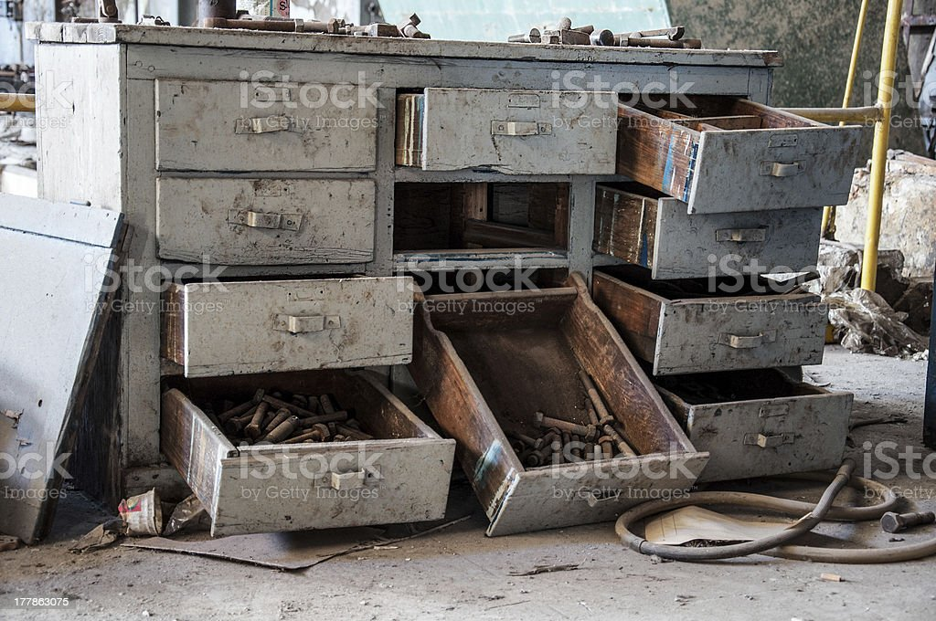 old drawers royalty-free stock photo