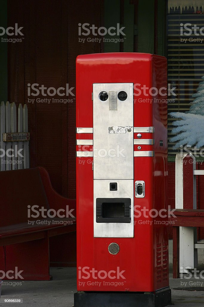 Old Drink Machine royalty-free stock photo