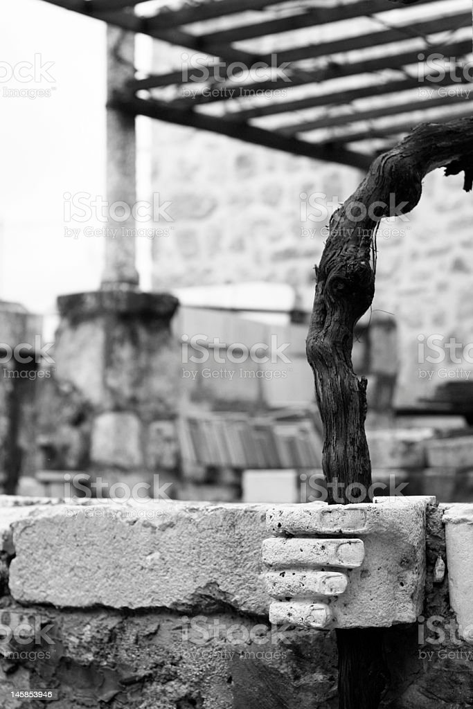 Old Dubrovnik after war royalty-free stock photo