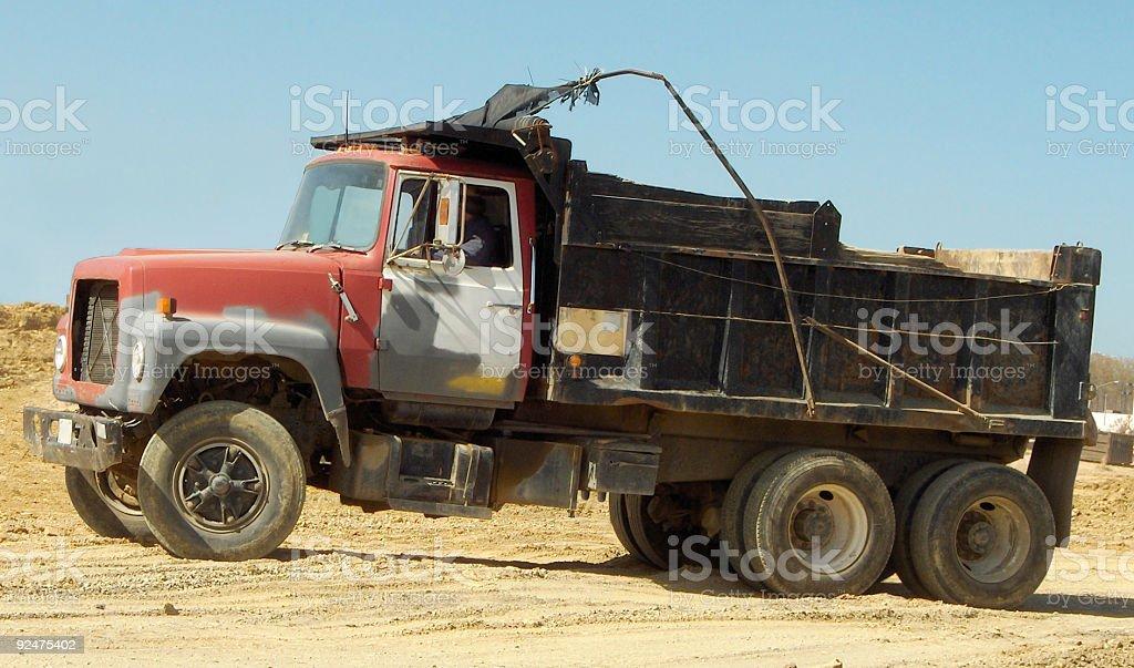 Old Dump Truck stock photo