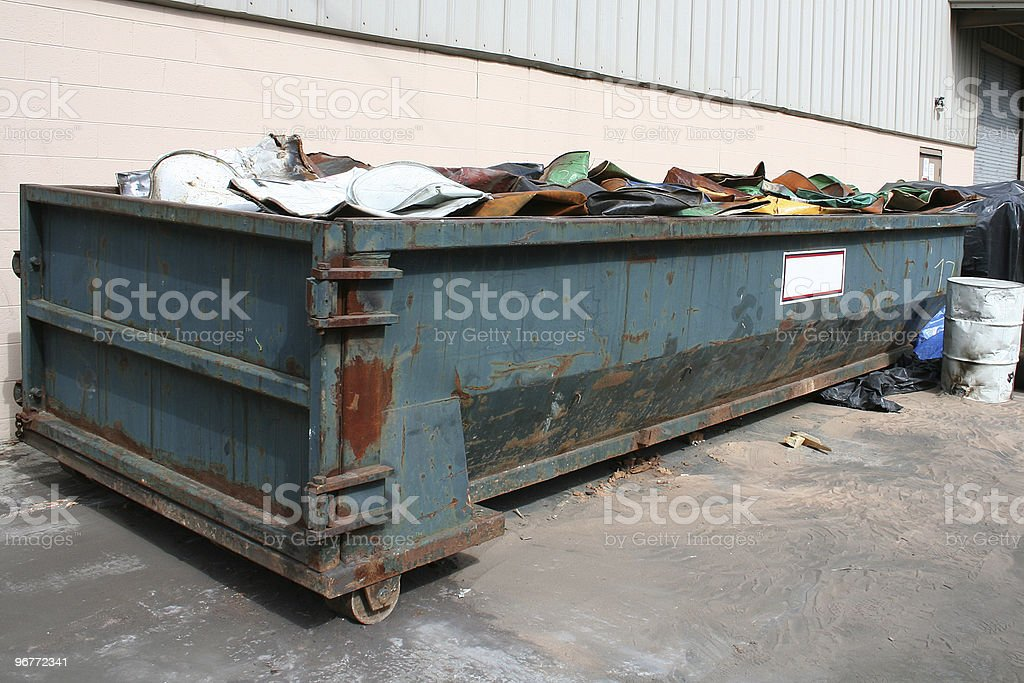 Old dumpster royalty-free stock photo