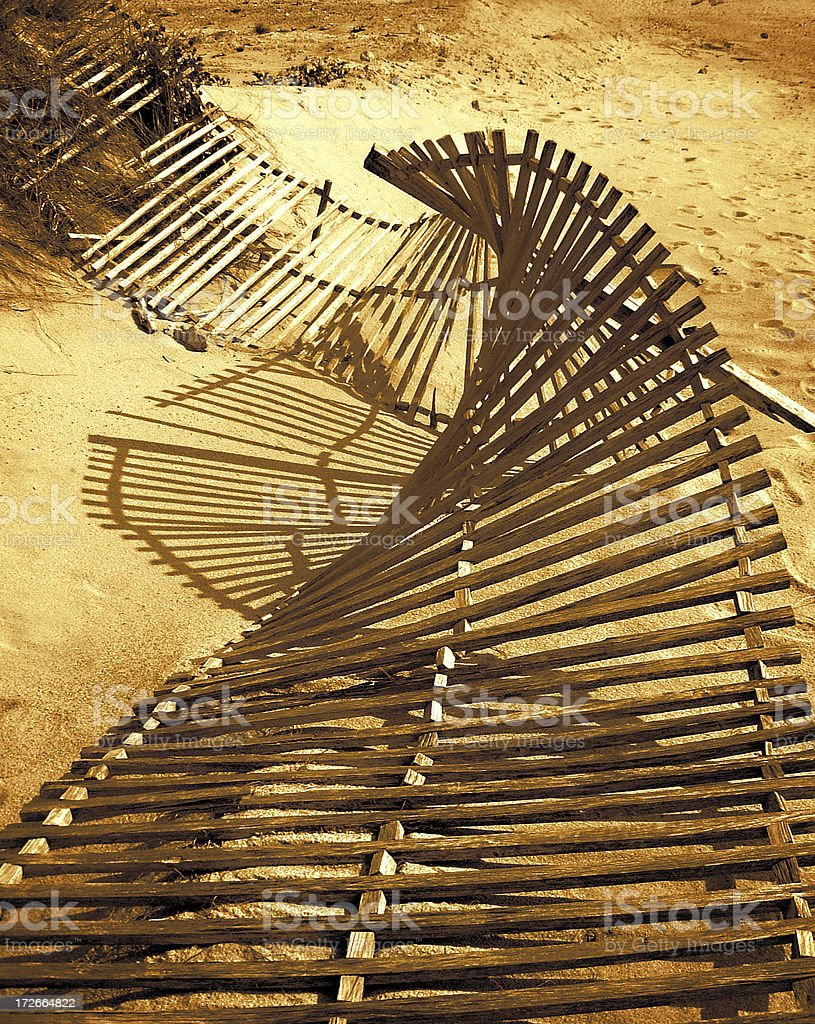 Old Dune Fence royalty-free stock photo