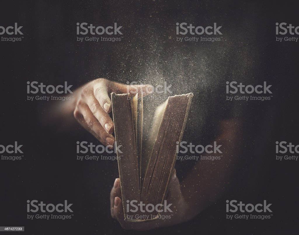 Old Dusty Book stock photo