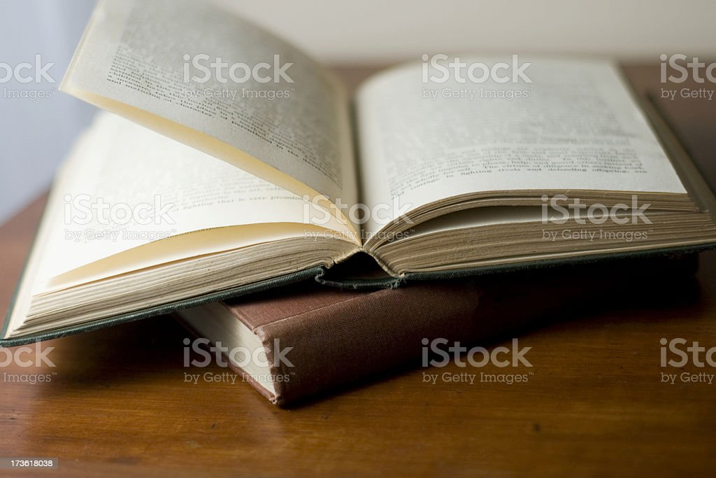 Old dusty books royalty-free stock photo