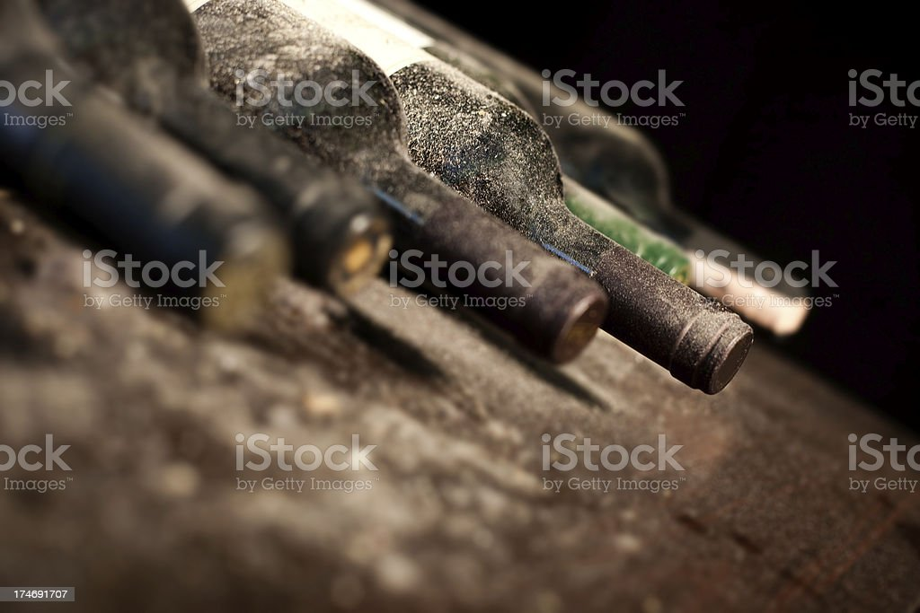 old dusty wines royalty-free stock photo