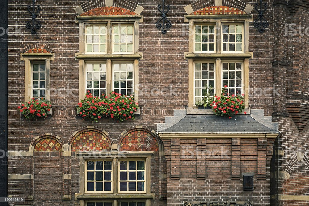 Old dutch building in Amsterdam stock photo