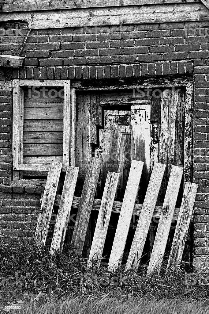 old dutch farm stock photo
