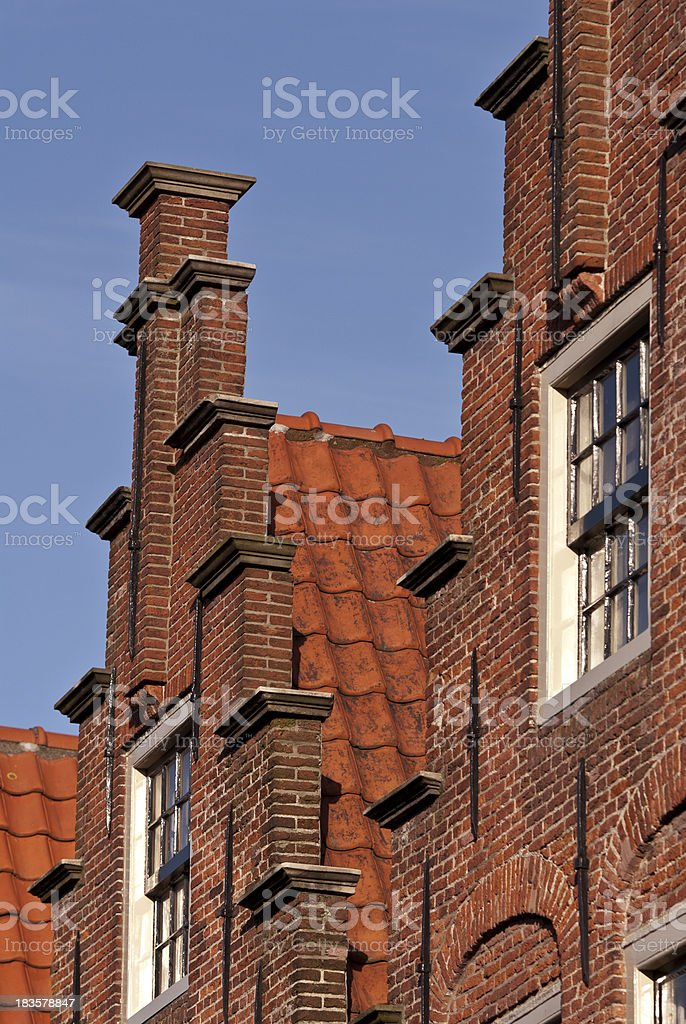 Old Dutch Houses royalty-free stock photo