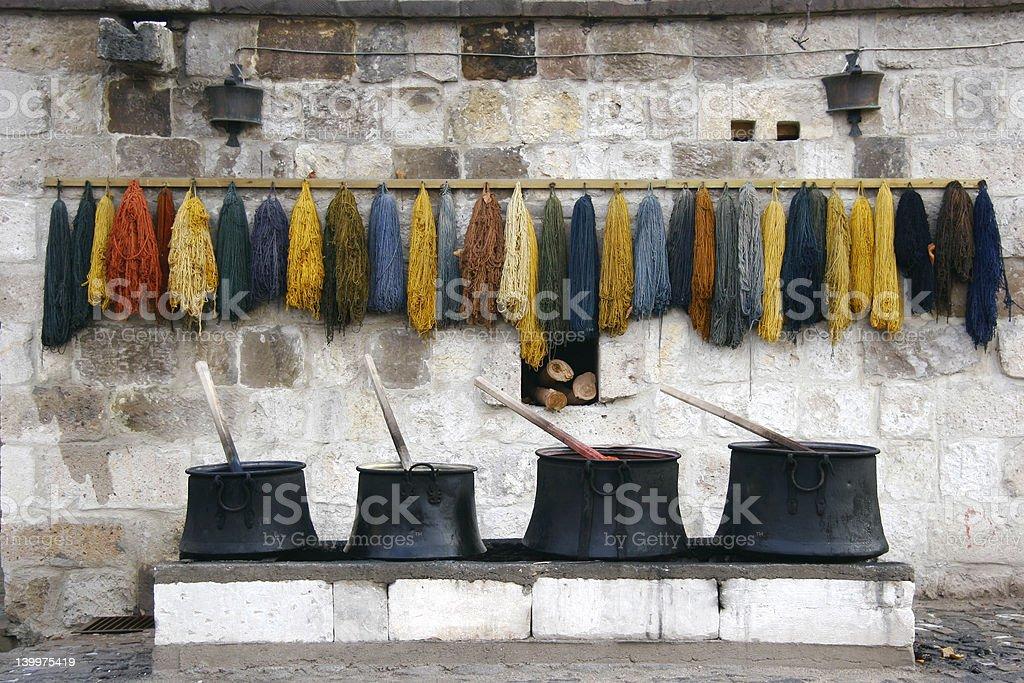 old dye-house stock photo