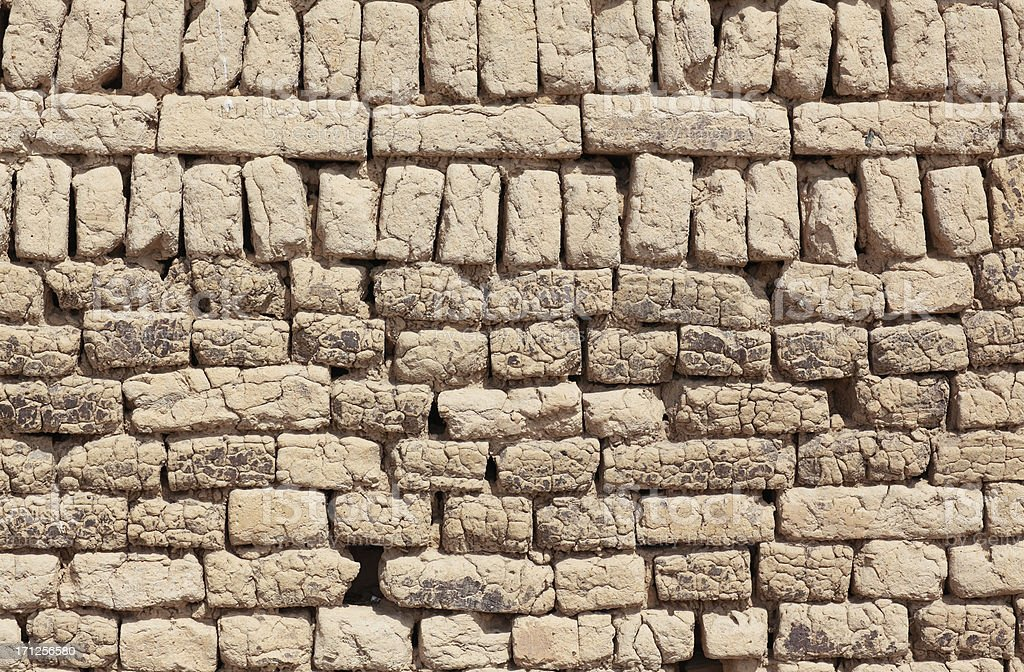 Old earth brick wall royalty-free stock photo