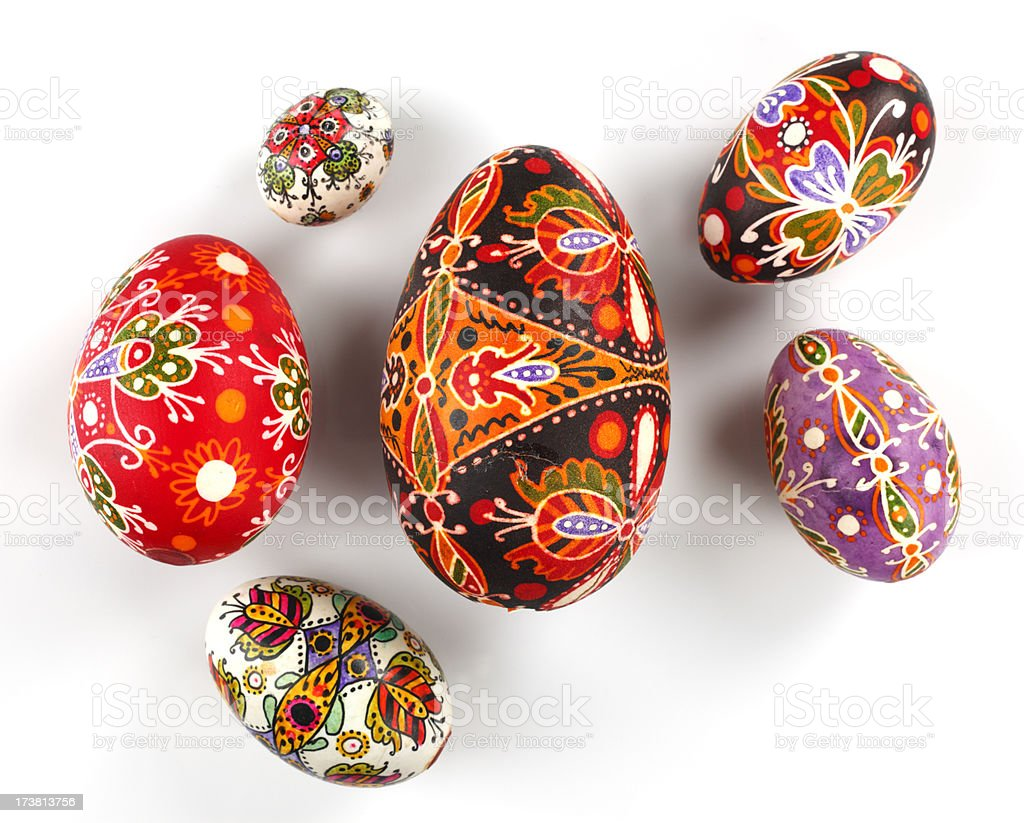 Old Easter Eggs stock photo