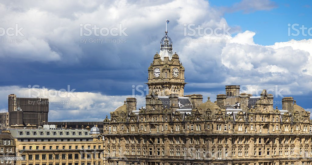 Old Edinburgh Buildings stock photo