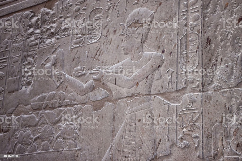 old egypt hieroglyphs of Luxor temple royalty-free stock photo