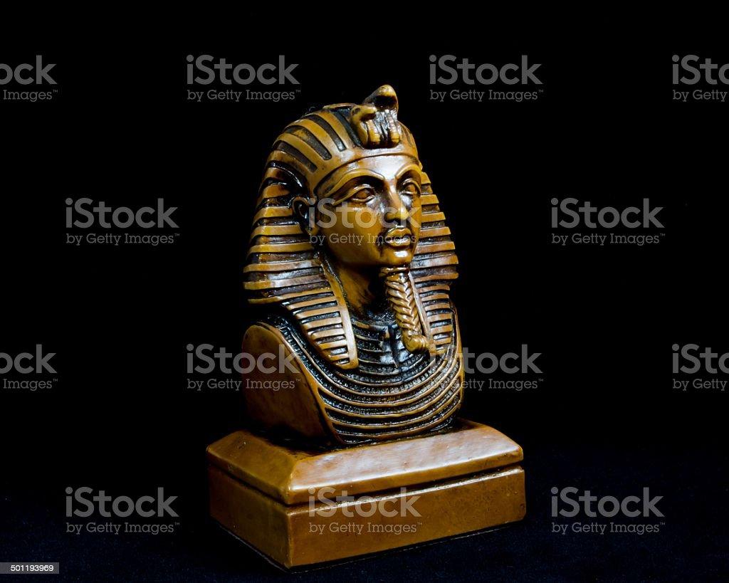Old Egyptian pharaoh Statue stock photo