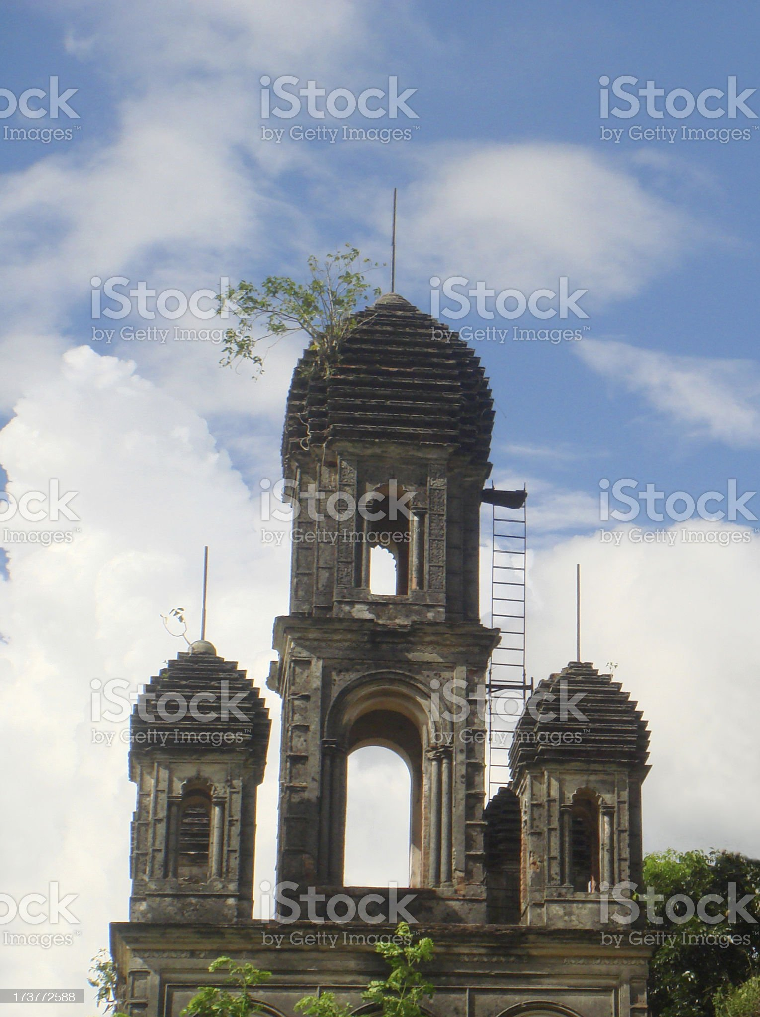 Old eighteenth century building royalty-free stock photo