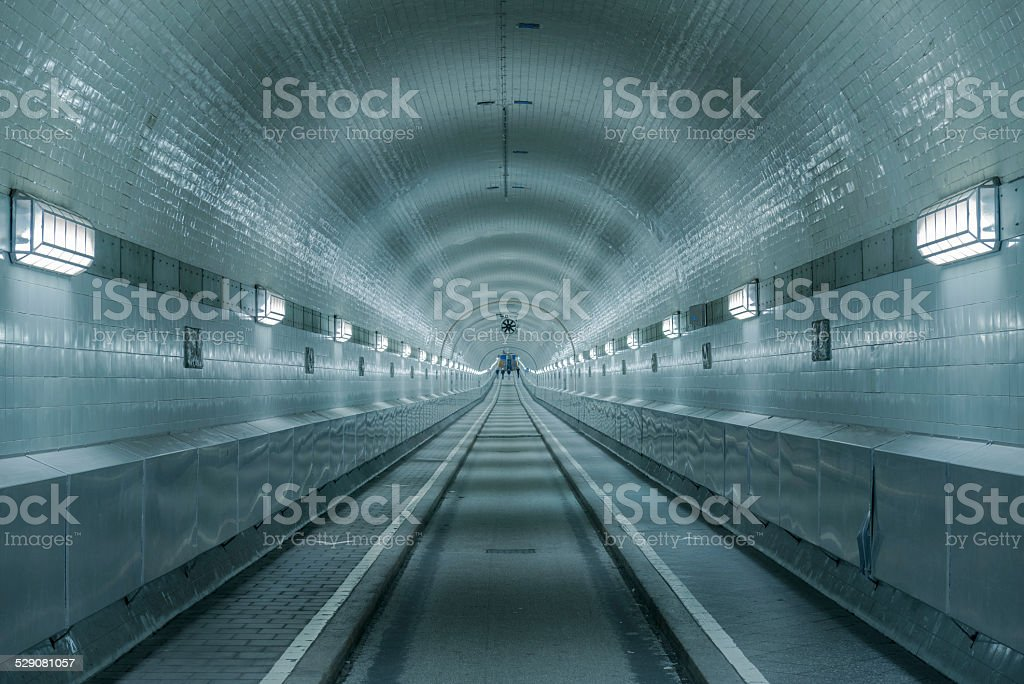 Old Elb Tunnel in Hamburg St. Paul Germany stock photo