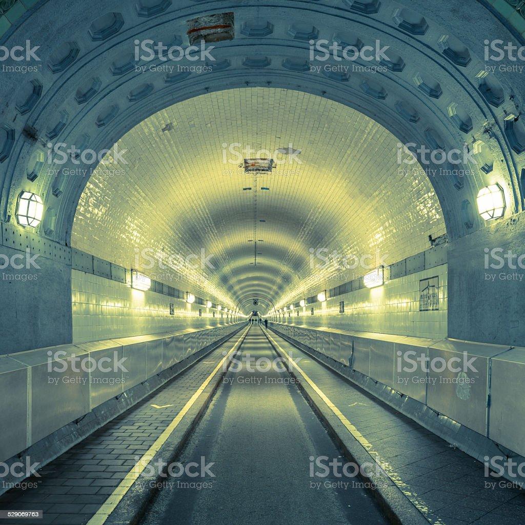 Old Elb tunnel in Hamburg St. Pauli Germany stock photo