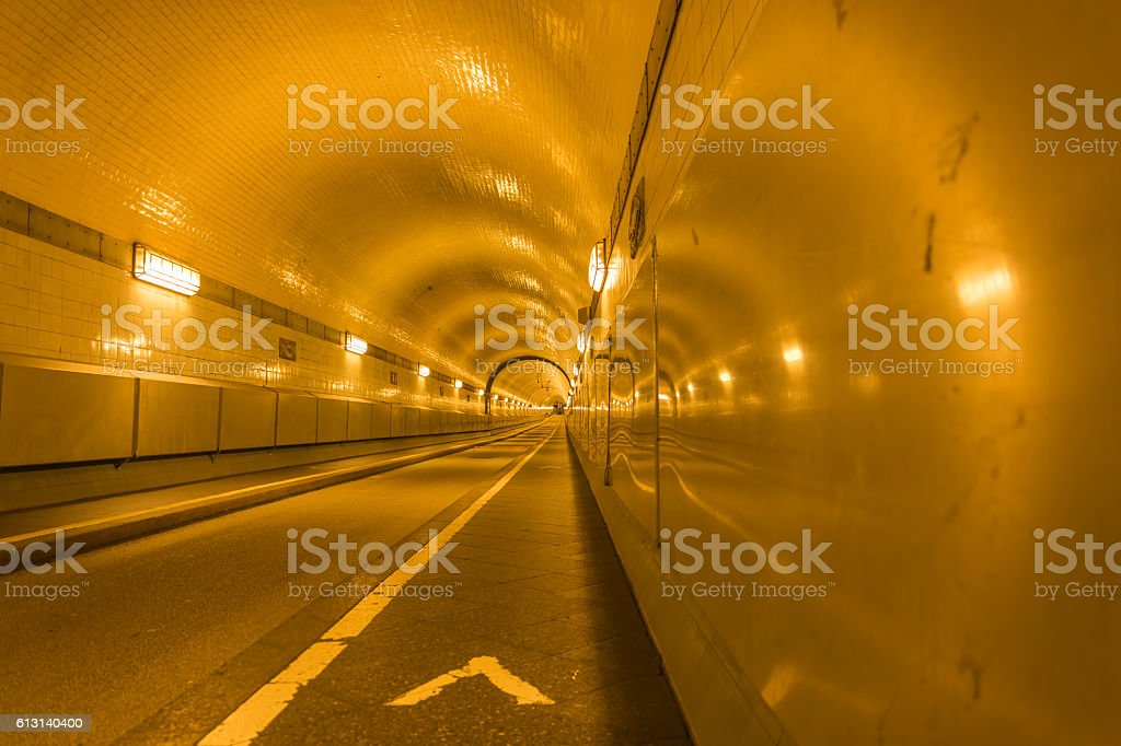 Old Elbtunnel stock photo