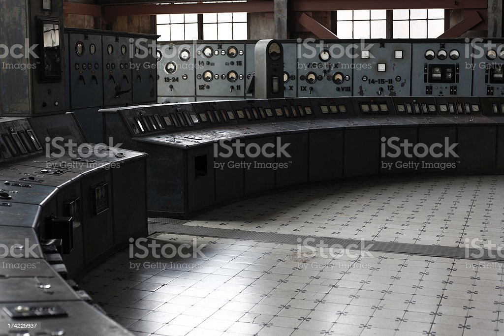 Old electric central stock photo