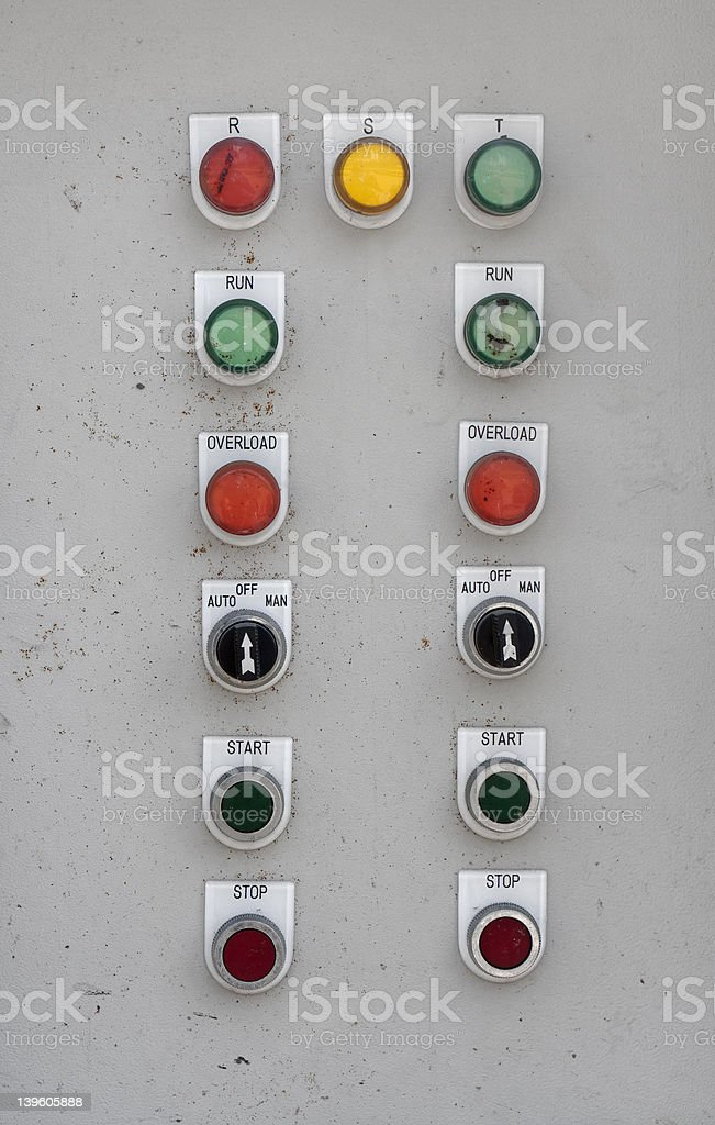 Old Electric Control Box royalty-free stock photo