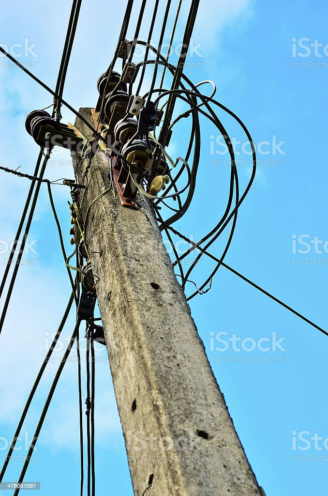 Old Electric pole royalty-free stock photo