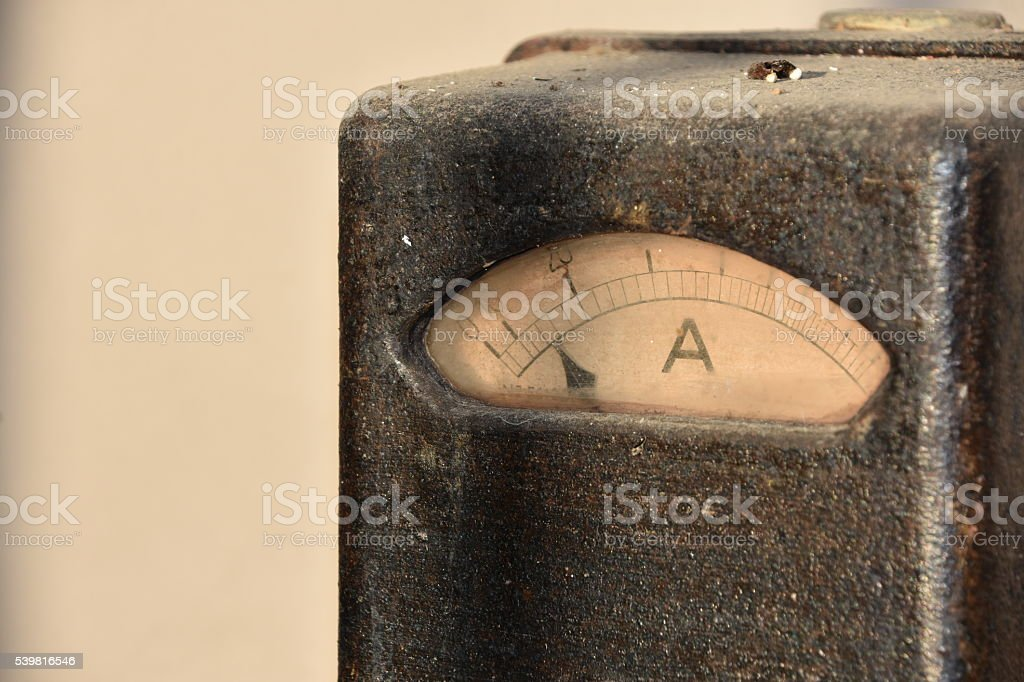 Old electricity meter stock photo
