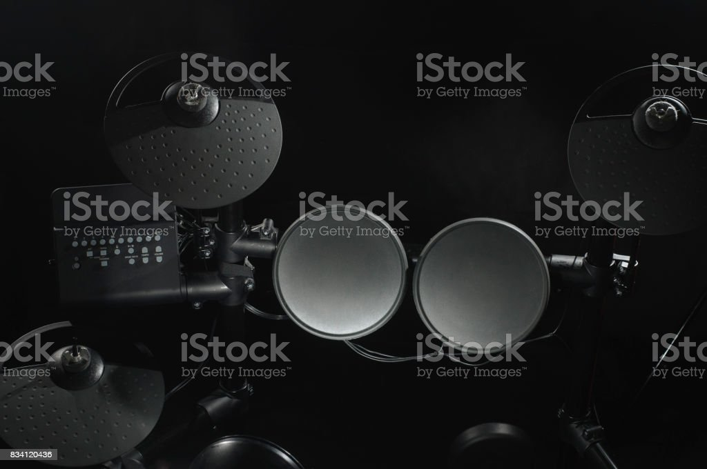Old electronic Drum Kit stock photo