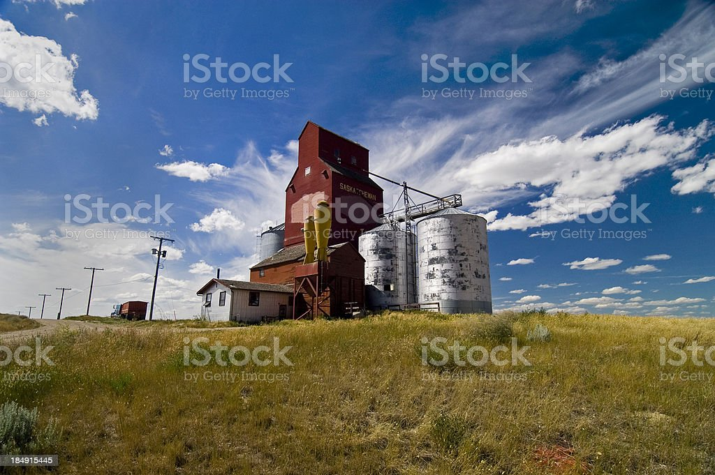 Old elevator wide view stock photo