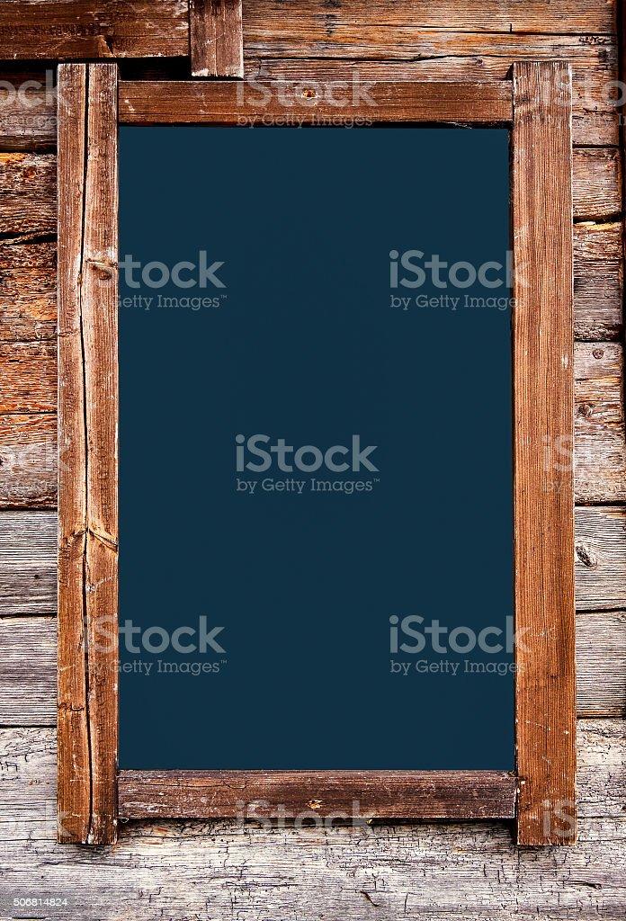 old empty black board stock photo