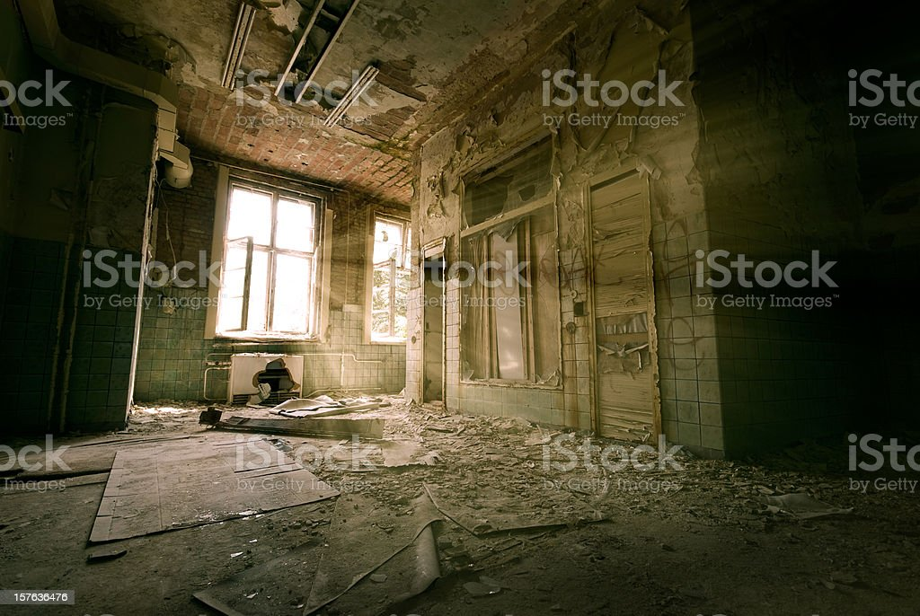 Old empty entry royalty-free stock photo