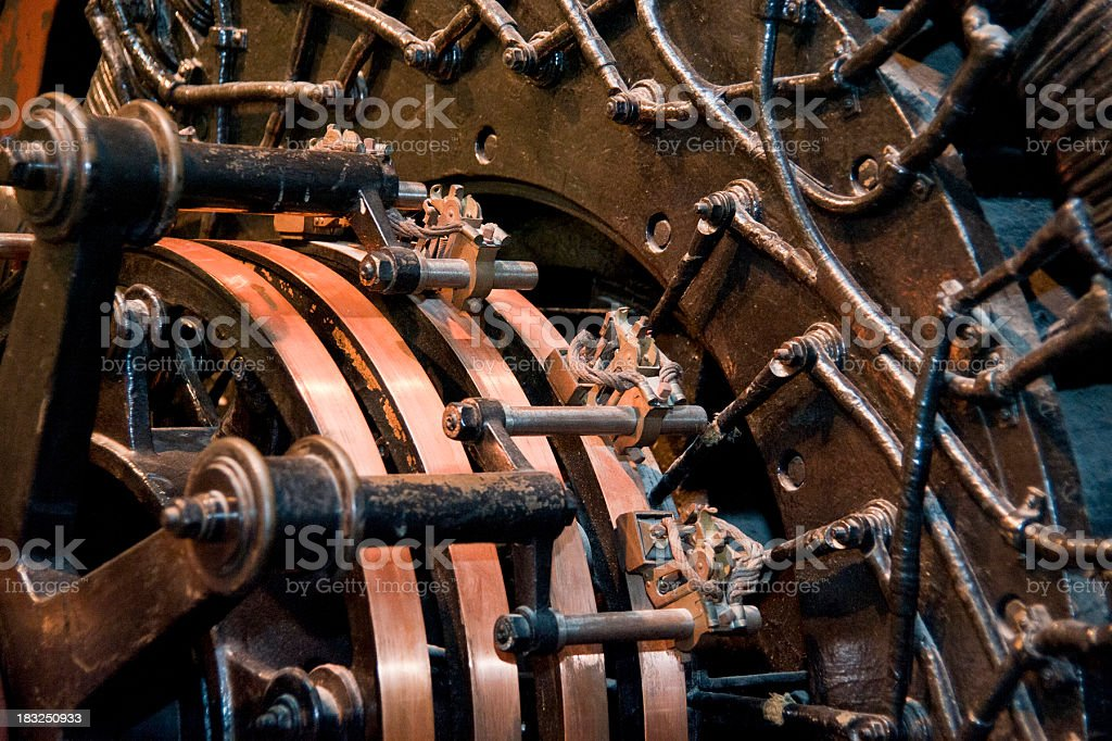 old engine copper motor royalty-free stock photo