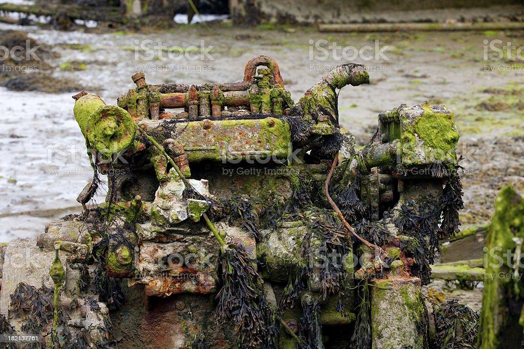 Old engine. royalty-free stock photo
