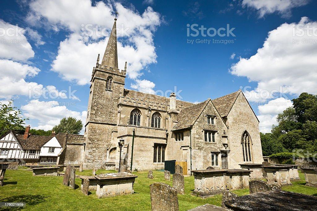 Old English Church in Lacock stock photo