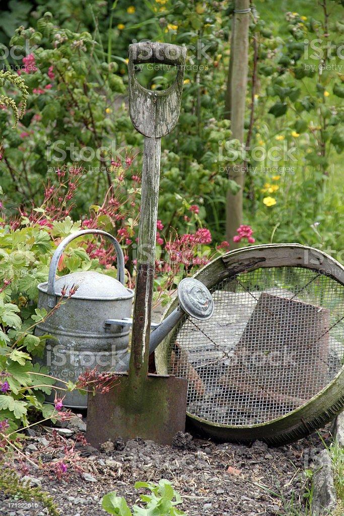 Old English Garden stock photo