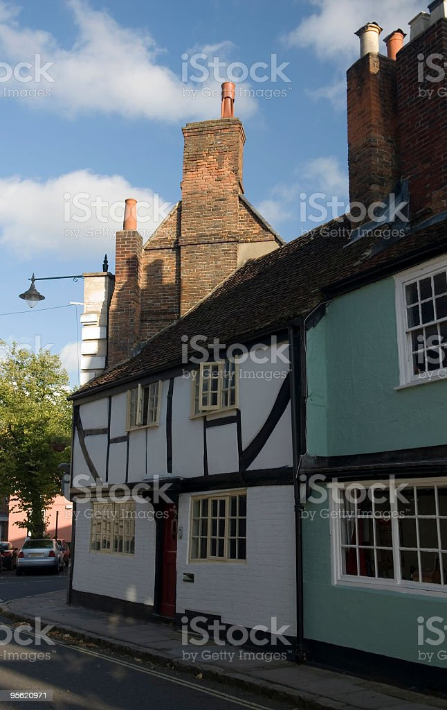 Old English Houses stock photo