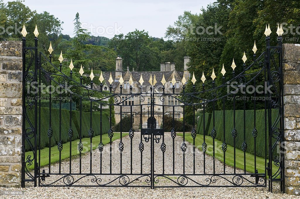 Old English Manor house stock photo