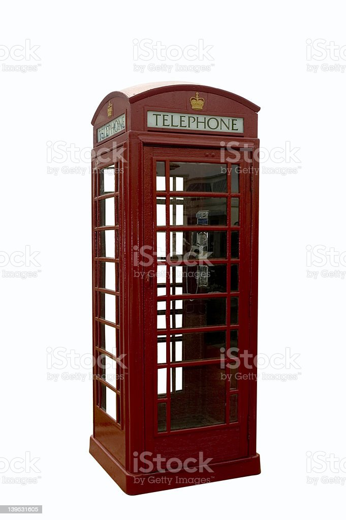 Old English Phone Booth royalty-free stock photo