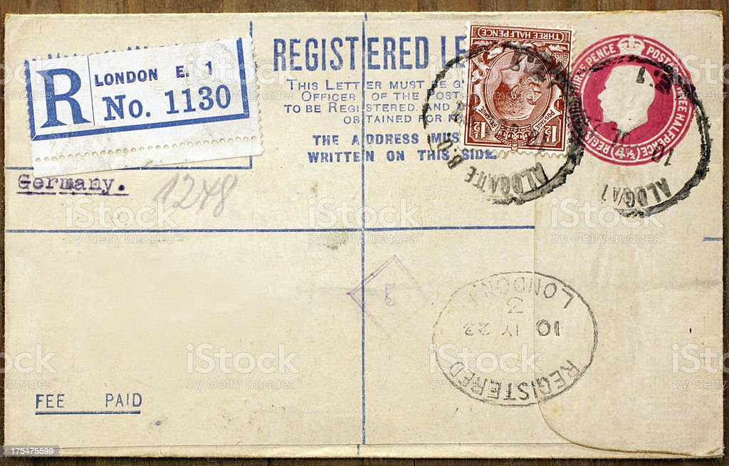 old English postcard royalty-free stock photo