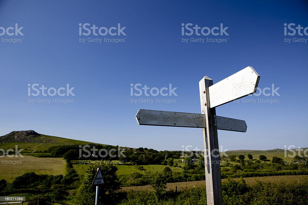 Old english signpost stock photo