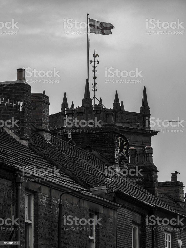 Old English town. stock photo