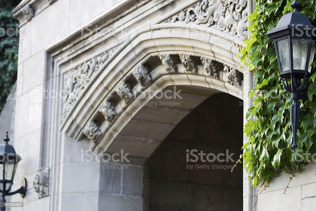 Old entrance design detail stock photo