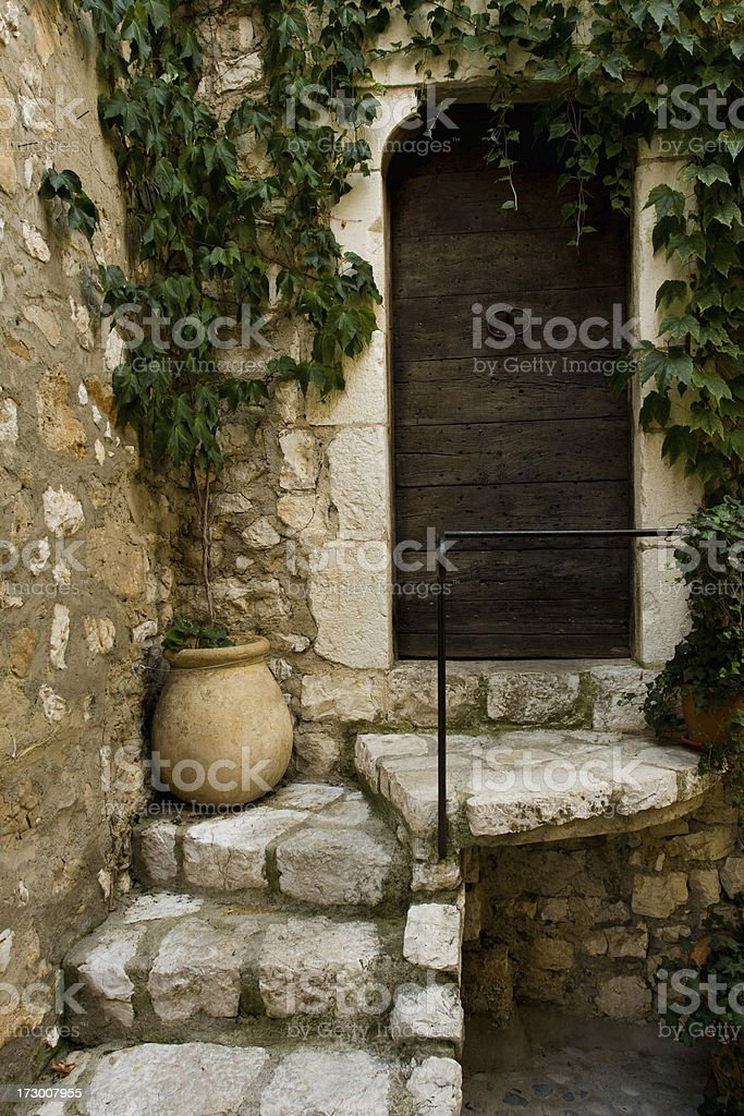 Old entrance in a Tradional French home stock photo