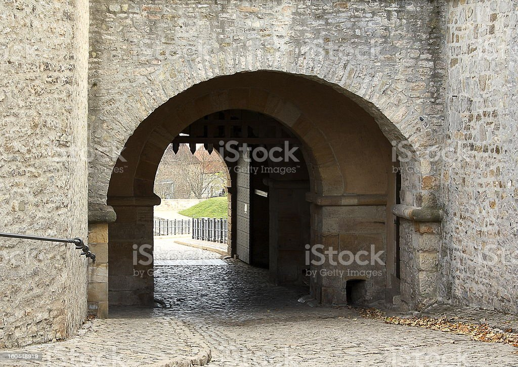 Old entrance in St. Petersberg Citadel royalty-free stock photo