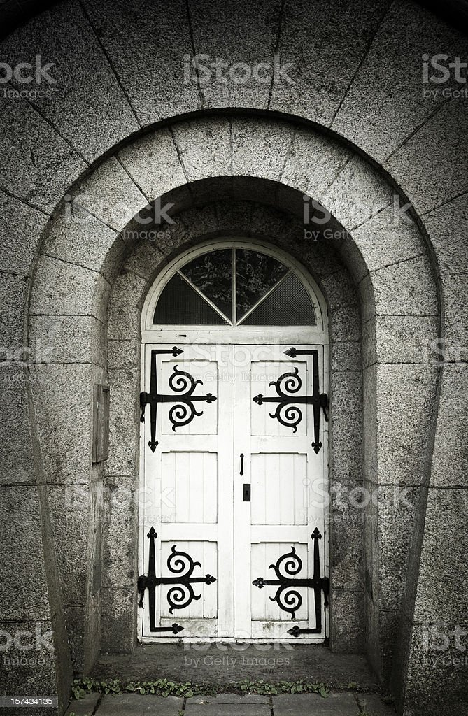 Old entrance royalty-free stock photo