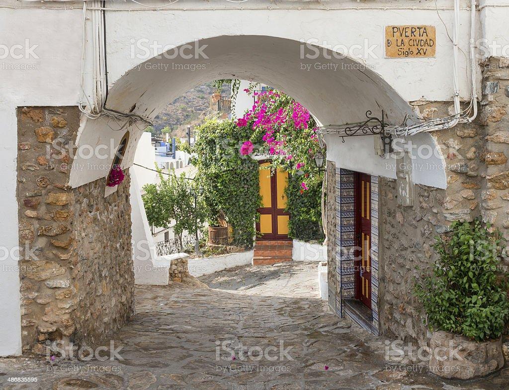Old Entrance to Mojacar Village stock photo