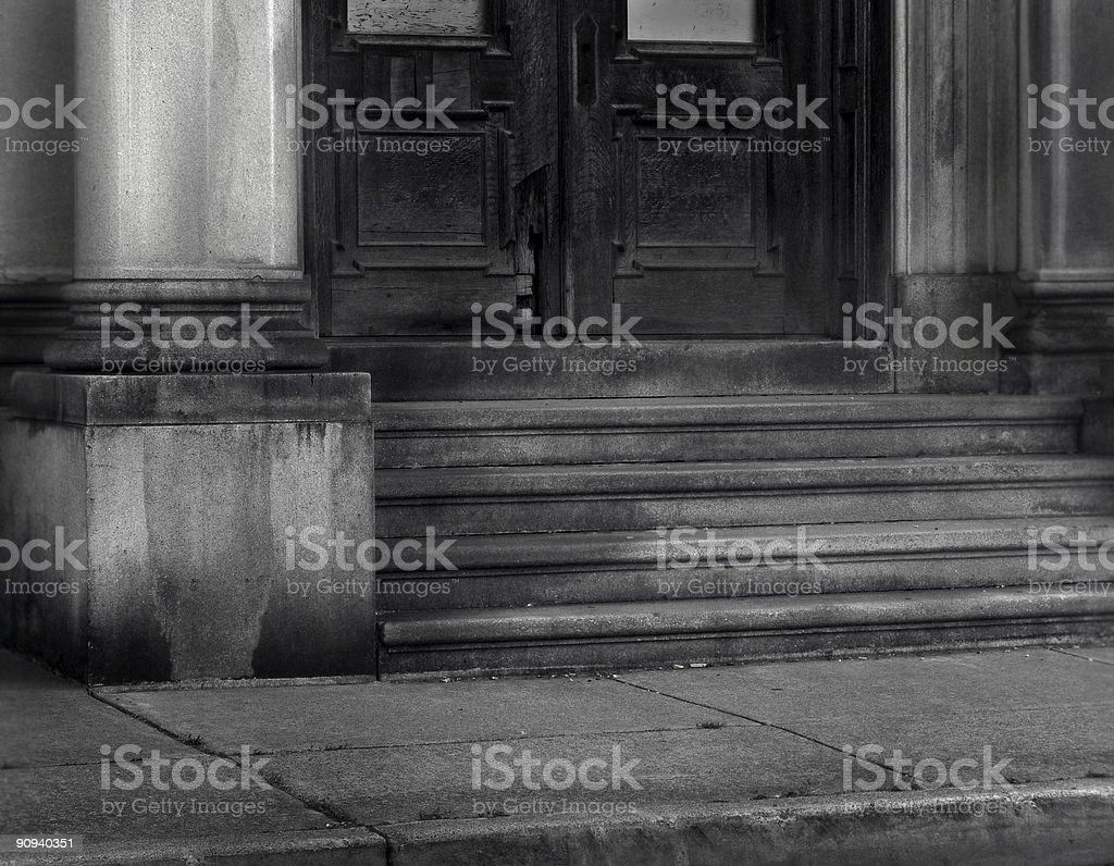 old entryway stock photo